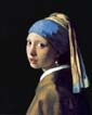 Original picture of The Girl with a Pearl Earring in the public domain (darker processing)