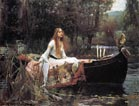 Original picture of The Lady of Shallot 1888 by John William Waterhouse (left)