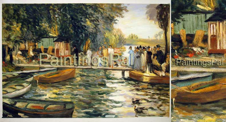Oil painting reproduction samples price guide for for La grenouillere